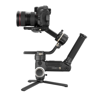 Zhiyun Crane 3S E 3-Axis Handheld Gimbal Stabilizer for DSLR  6.5kg Payload, Extendable Roll Axis, 12 Hours or Longer Continuous Uptime, DC-in (E Package)