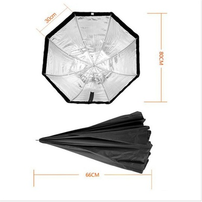 Godox Portable Octagon Softbox 80cm/31.5in Umbrella Brolly Reflector Flash light Softbox for Studio Photo Flash Speedlight