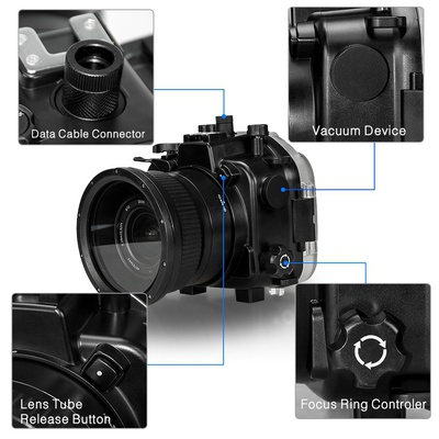 Seafrogs 40m 130ft Underwater Camera Housing Case for Sony A7 III A7R III Camera