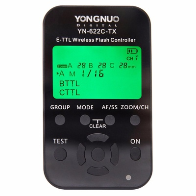 YONGNUO YN622C KIT Including YN622C-TX Controller and YN622C-II-RX Single Transceiver Wireless E-TTL Flash Trigger Kit with LED Screen For Canon