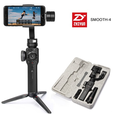 Zhiyun Smooth 4 3-Axis Focus Pull & Zoom Capability Handheld Gimbal Stabilizer for Smartphone Like iPhone X 8 7 Plus 6 Plus Samsung Galaxy S8+ S8 S7 S6 S5