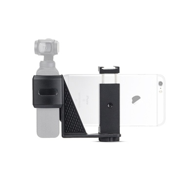EACHSHOT Phone Holder Kit for DJI OSMO Pocket with 1/4 screw hole and cold shoe to enable accessories attachment like microphone tripod video light