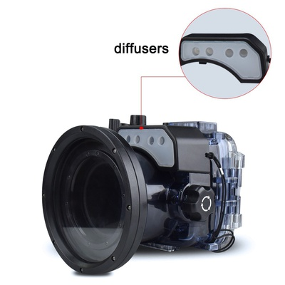 Seafrogs 60m/195ft Diving Camera Waterproof Housing Case for Sony RX100 VI
