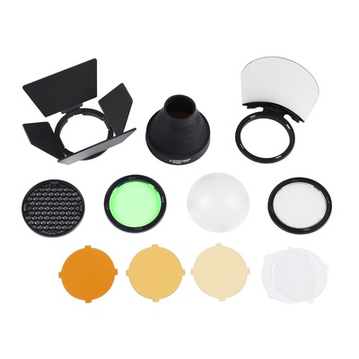 Godox AK-R1 Accessories kit Compatible for Godox H200R Round Flash Head, AD200 Accessories