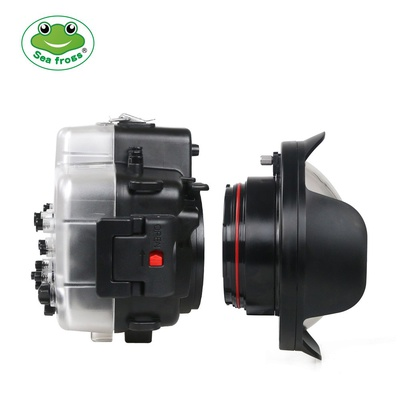 Seafrogs WA-1 WA-005-A Newest diameter 106mm Fisheye Wide angle lens Dome Port for Canon 5D4/750D/760D,Nikon D800/D810/D750/D500