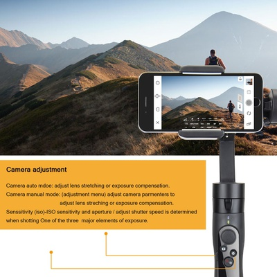 Freevision VILTA-SE  3-Axis iPhone Gimbal, Smartphone Stabilizer for  iPhone Xs Max XR X 8 Plus 7 6 SE Android Smartphone Samsung Galaxy w/ max 255g payload and  FV Share APP support
