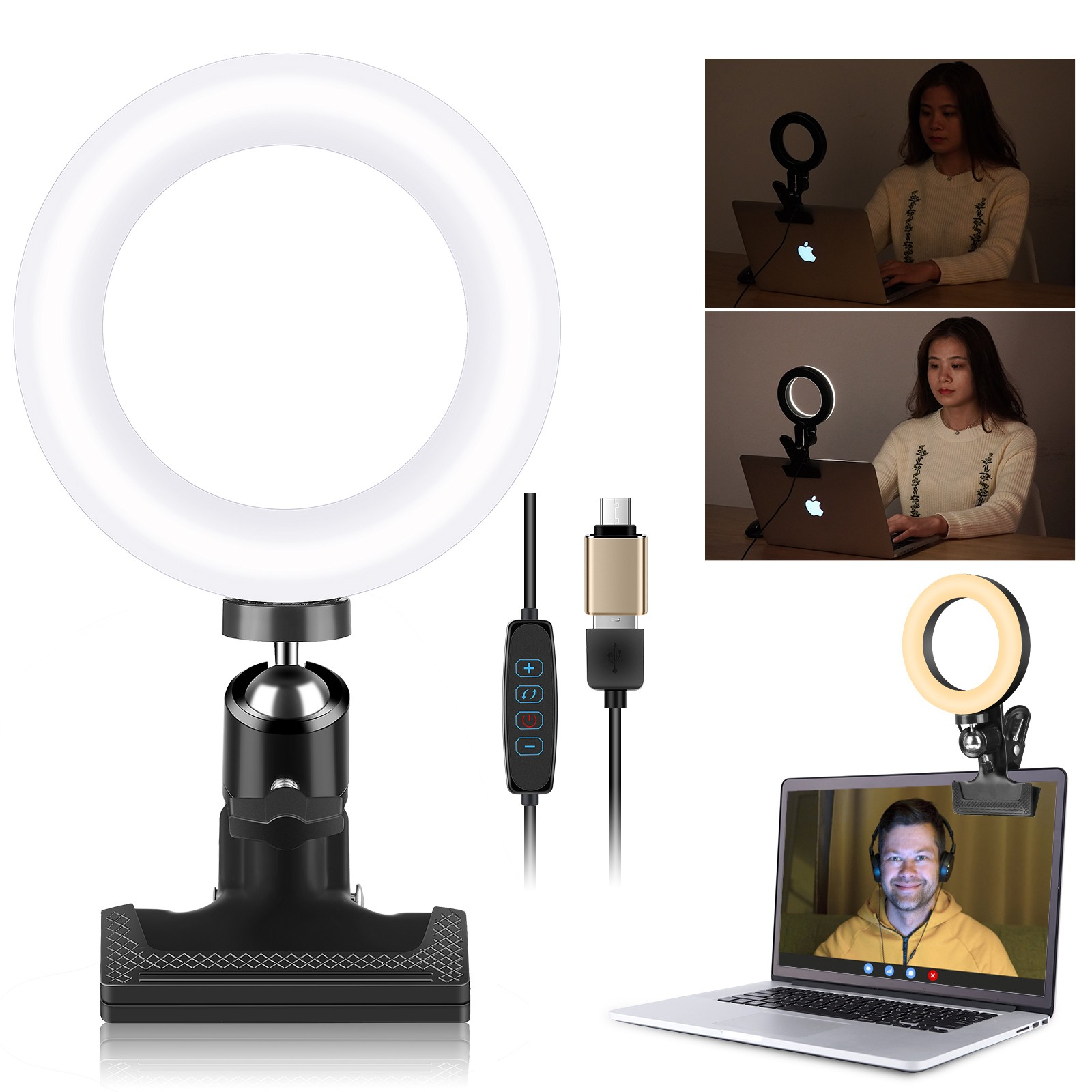 "EACHSHOT 4.5"" Video Conference Lighting Kit"